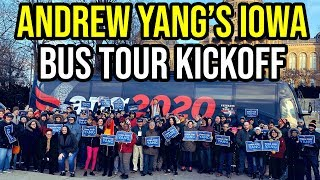 Andrew Yang Kicks Off His Iowa Bus Tour | Full Speech