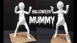 DIY Halloween Mummy Prop | Spooky Halloween Craft | How to Make Easy Halloween Craft