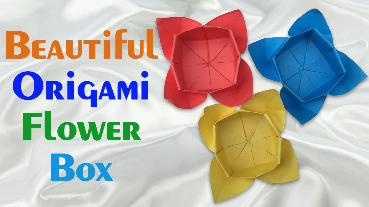 Diy origami flower box tutorial how to make homemade flower box diy origami flower box tutorial how to make homemade flower box easy simple origami flower box mightylinksfo