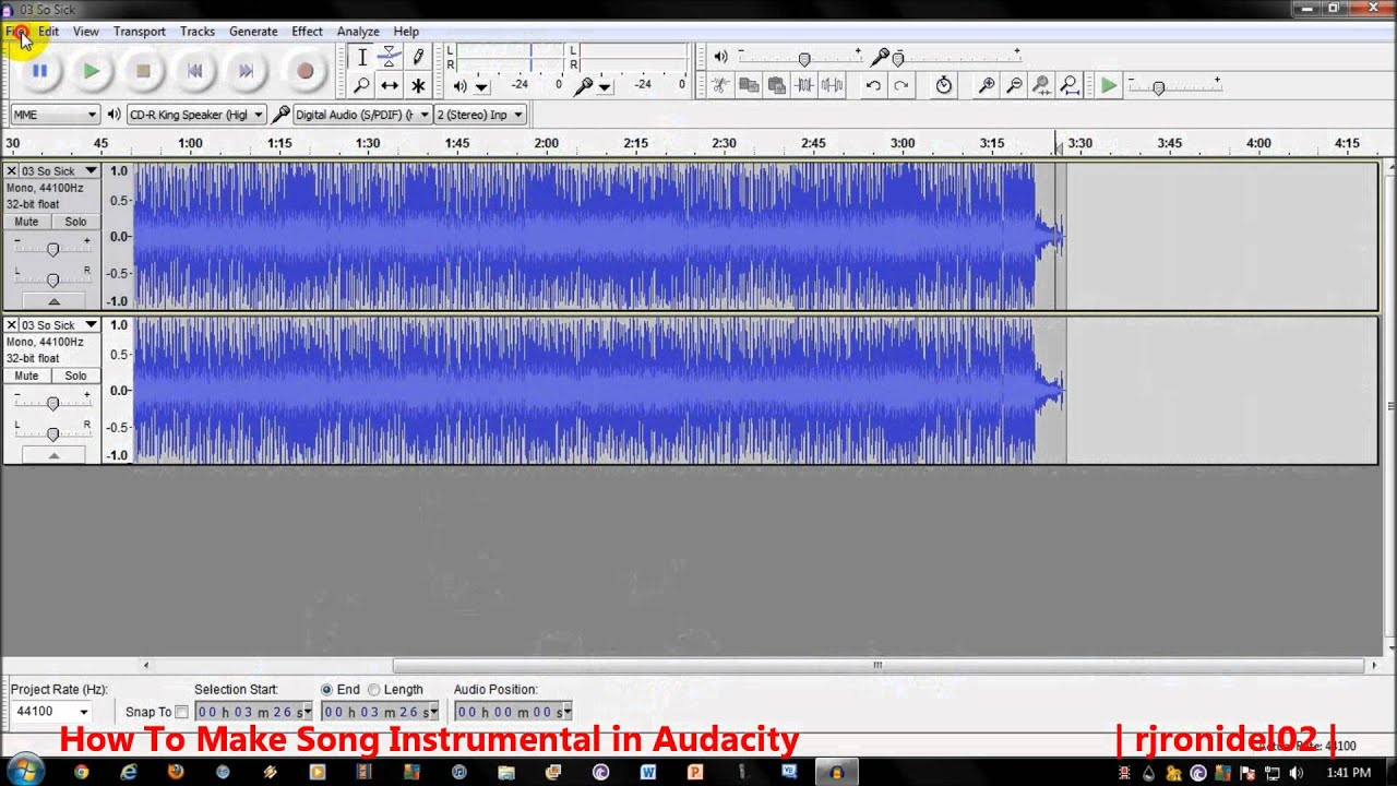 Make Song Instrumental : how to make a song instrumental in audacity youtube ~ Vivirlamusica.com Haus und Dekorationen