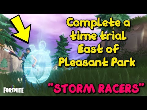 Fortnite Storm Racers - Complete a Time Trial East of Pleasant Park