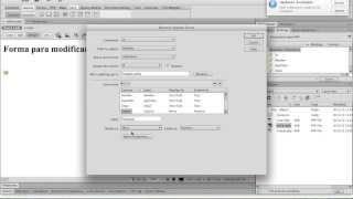 1. Cómo Listar, añadir, editar y borrar records de una tabla con PHP y Dreamweaver