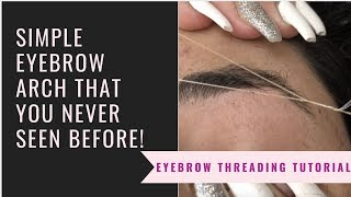 EYEBROW ARCH SHAPE STEP BY STEP || Eyebrow Halka Arch Shape Banaune Method