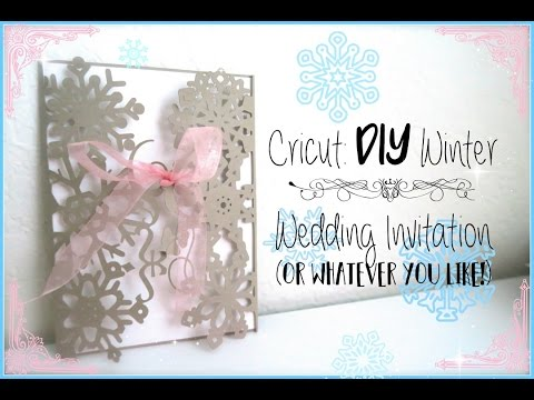 DIY How to Make A Wedding Invitation using the Cricut YouTube