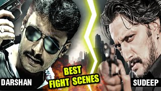 Kiccha Sudeep & Thoogudeep Darshan Best Fight Scenes Collection 2015