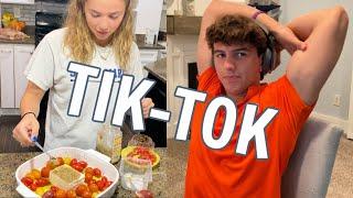 Time is TICKING for Brennan&#39s COLLEGE DECISION  Katie Makes TRENDING Feta and Tomato TIK-TOK Recipe