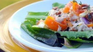 Куринный салат с хурмой