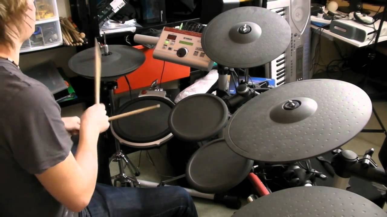 Electronic drum kit yamaha dtxpress iv 4 review youtube for Yamaha electronic drum kit for sale
