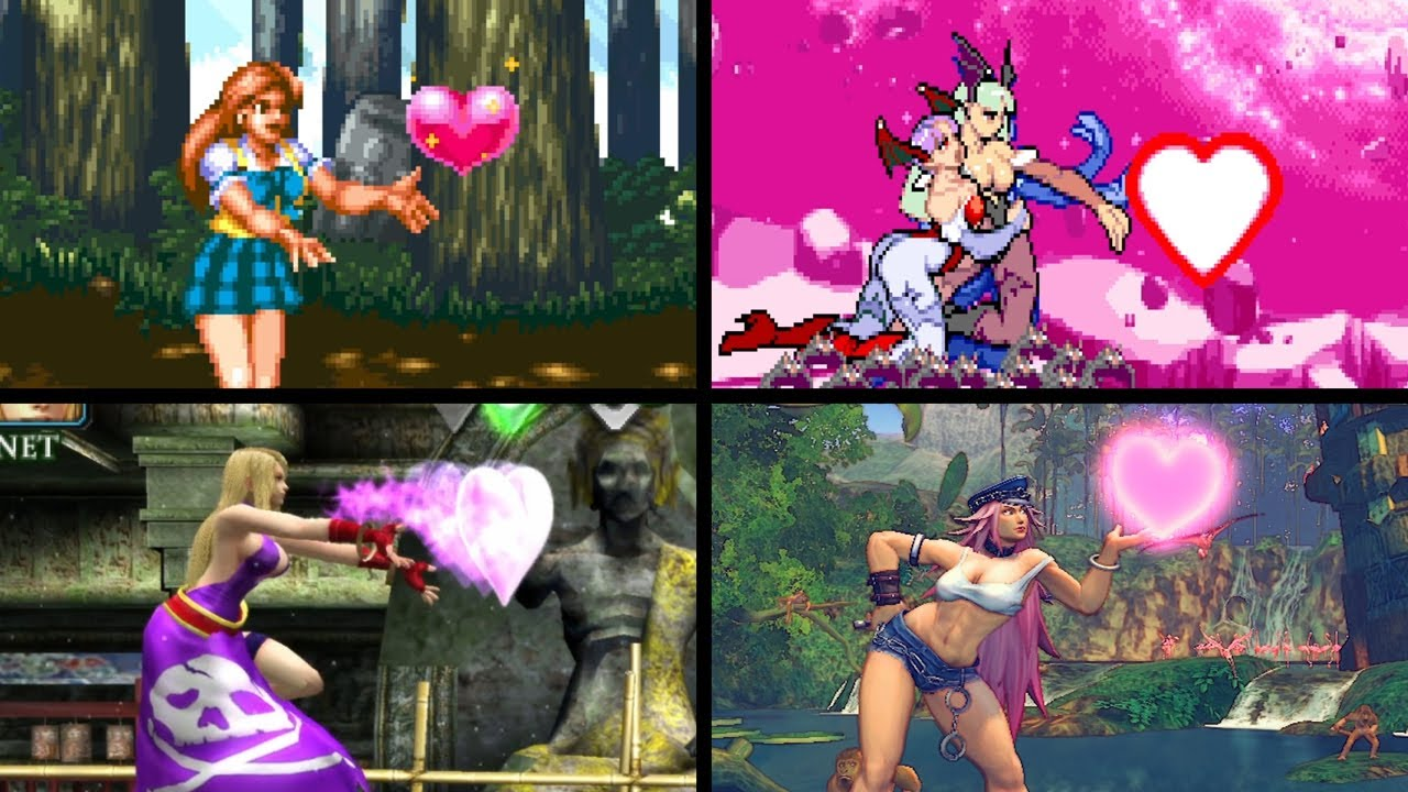 Air kiss Compilation in Fighting games