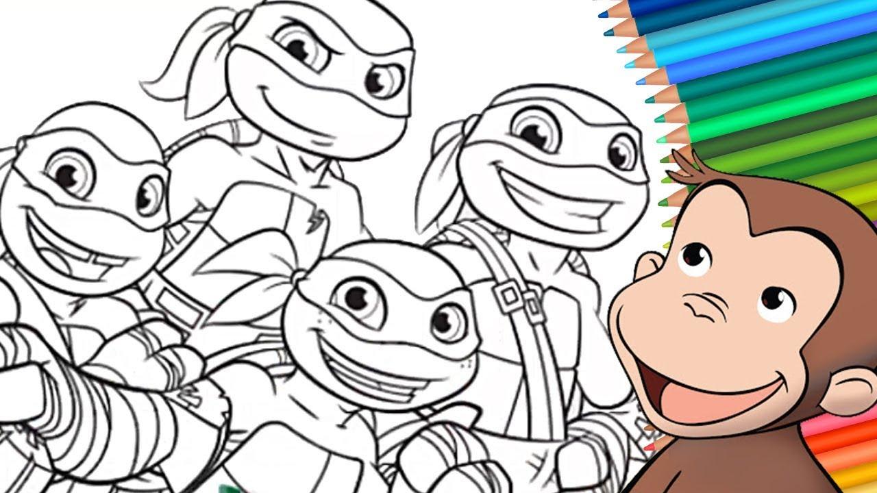 Jorge El Curioso Como Colorear A Las Tortugas Ninja Las Tortugas Ninja Para Colorear Youtube