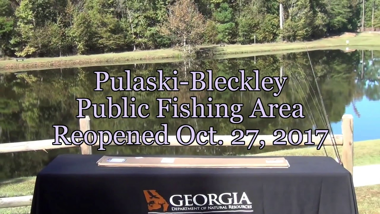 Ocmulgee public fishing area reopens in hawkinsville ga for Public fishing areas