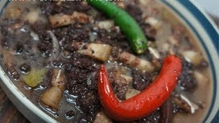 Dinuguan Recipe  - Pigs Blood Stew - Tagalog Pinoy Filipino
