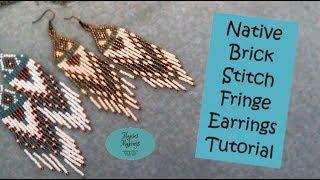 Native Brick Stitch Fringe Earrings Tutorial