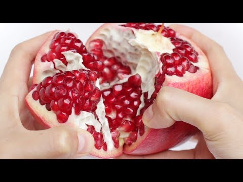 How to Eat Pomegranate | Best way to open a Pomegranate