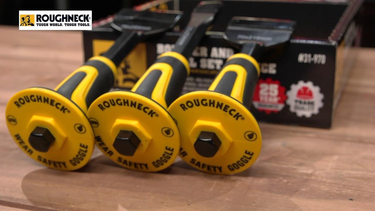 Roughneck Bolster /& Chisel Set 3 Piece Set