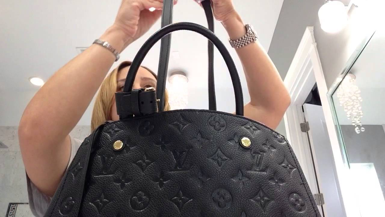 faa4ca1e Louis Vuitton Empriente Montaigne MM size in noir review!