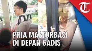 Video Penumpang Berperilaku Mesum di Depan Gadis Dalam Bus, Kelabakan Dipergoki Penumpang Lain
