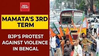 Mamata Banerjee Takes Oath As Bengal CM; BJP's Protest Against TMC Over Killing Of Party Workers