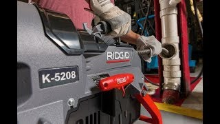 How-To Use the RIDGID K-5208 Sectional Drain Cleaner