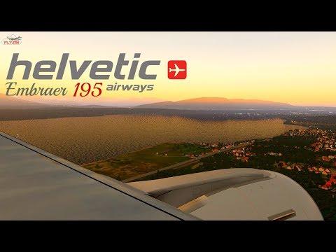 Realism E195 Helvetic Airways Landing in Geneva Airport ! l X-Plane 11