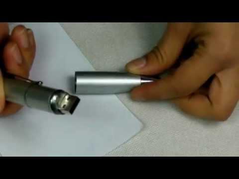 6.74 4GB Pen Shaped USB Flash Drive Silver-C01639