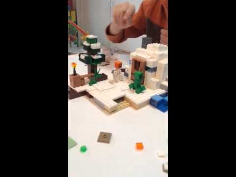 Logantube HD  Lego Minecraft Snow Hideout