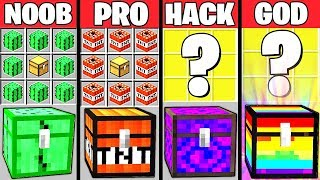 Minecraft Battle: SECRET CHEST CRAFTING CHALLENGE - NOOB vs PRO vs HACKER vs GOD ~ Animation