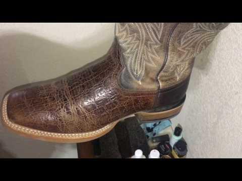 Cowboy Boot Shine ASMR (no wax) - Lone Cactus Leather