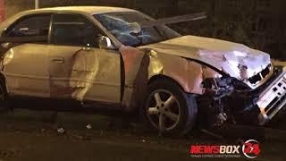 Водитель Тойоты Марк II чудом выжил в ДТП на улице Калинина