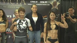 Loma Lookboonmee vs. Melissa Wang - Weigh-in Face-Off - (Invicta FC 27) - /r/WMMA
