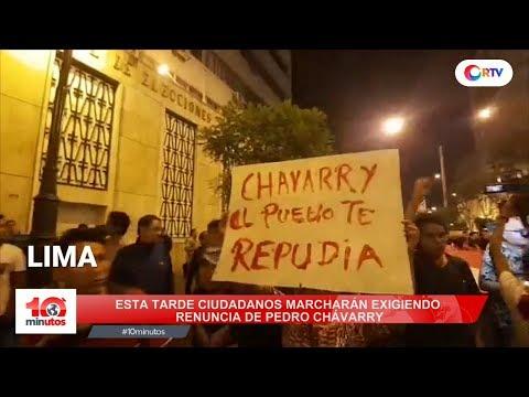 Ciudadanos marcharán a nivel nacional por renuncia de Chávarry - 10 minutos Edición Tarde