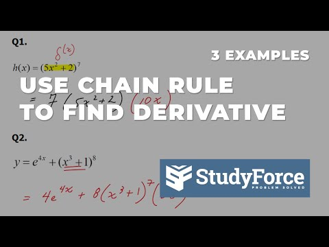 📚 How to use the chain rule to find the derivative of a function