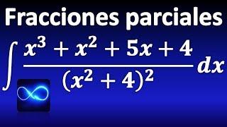 282. Integral mediante fracciones parciales: factor cuadrático repetido
