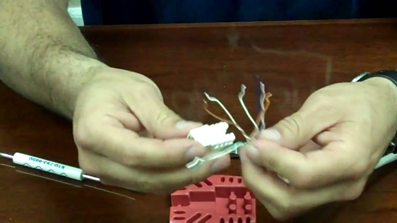 how to punch down a cat6 keystone jack [ 1280 x 720 Pixel ]