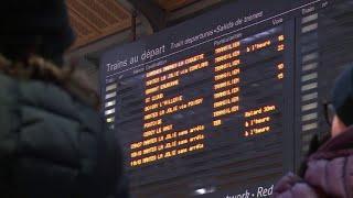 Neige: trafic très perturbé gare Saint-Lazare