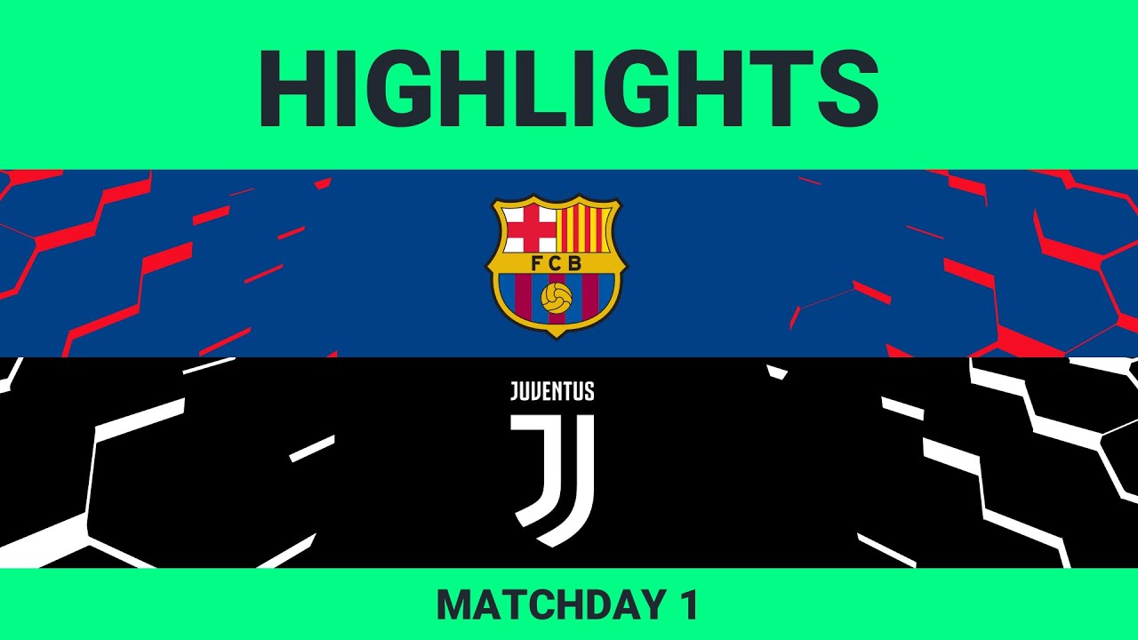 Fc Barcelona Vs Juventus Highlights Matchday 1 Efootball Pro 2019 2020 Youtube