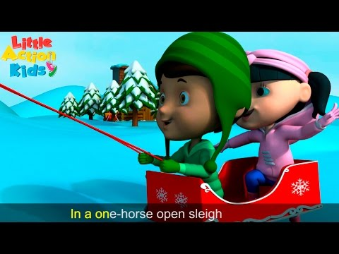 Jingle Bells With Lyrics and Actions | Christmas Songs for Children | Little Action Kids
