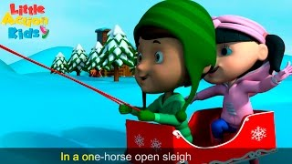 Jingle Bells Dance | Christmas Dance Song For Kids With Lyrics | Little Action Kids