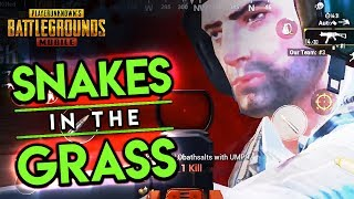 SNAKES in the GRASS - SMG WAR MODE - PUBG Mobile