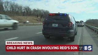 Child Hurt In Crash Involving Reid's Son