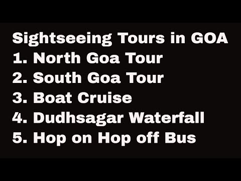 GOA - Sightseeing Tours Operated By GTDC