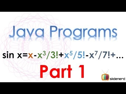 75 Java Series Sine Part 1 |