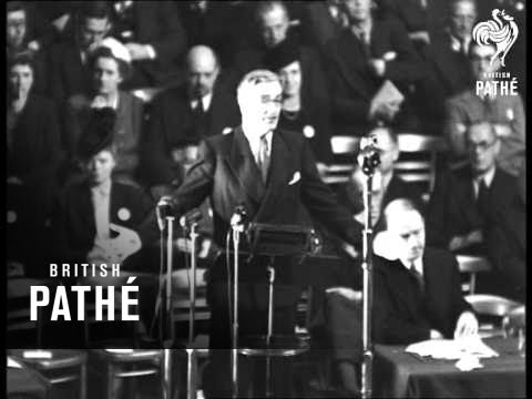 Anthony Eden At Tory Conference (1947)