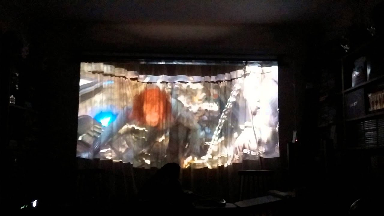 New tab tensioned electric projector screen test youtube for Tab tensioned motorized projection screen