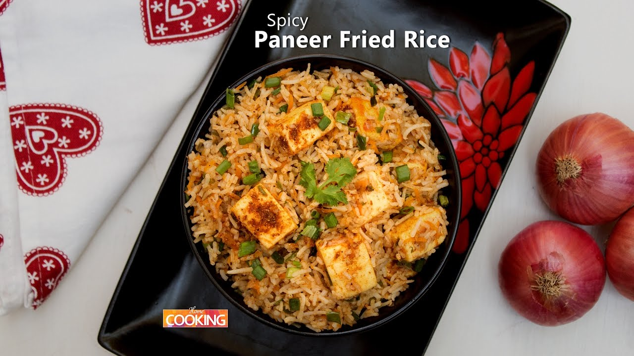 Spicy paneer fried rice ventuno home cooking youtube spicy paneer fried rice ventuno home cooking ccuart Choice Image