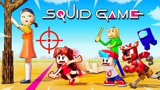 SQUID GAME Red Light Green Light Challenge (Minecraft Animation)