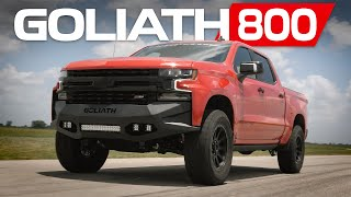 GOLIATH 800: Supercharged 2020 Silverado by Hennessey | Bedding Brembo Brakes!