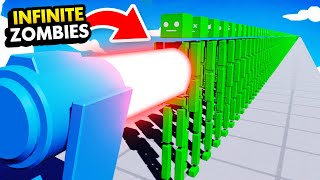 INFINITE ZOMBIE APOCALYPSE vs HUGE LASER CANNON (Fun With Ragdolls: The Game Funny Gameplay)