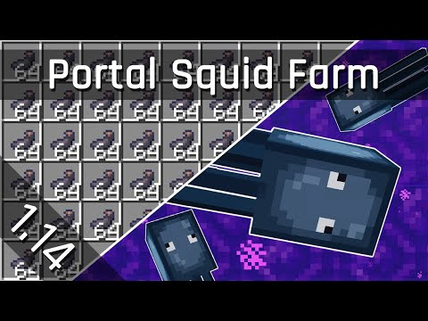 Squid Ink Farm Tutorial | Minecraft 1.14 (Java Edition)