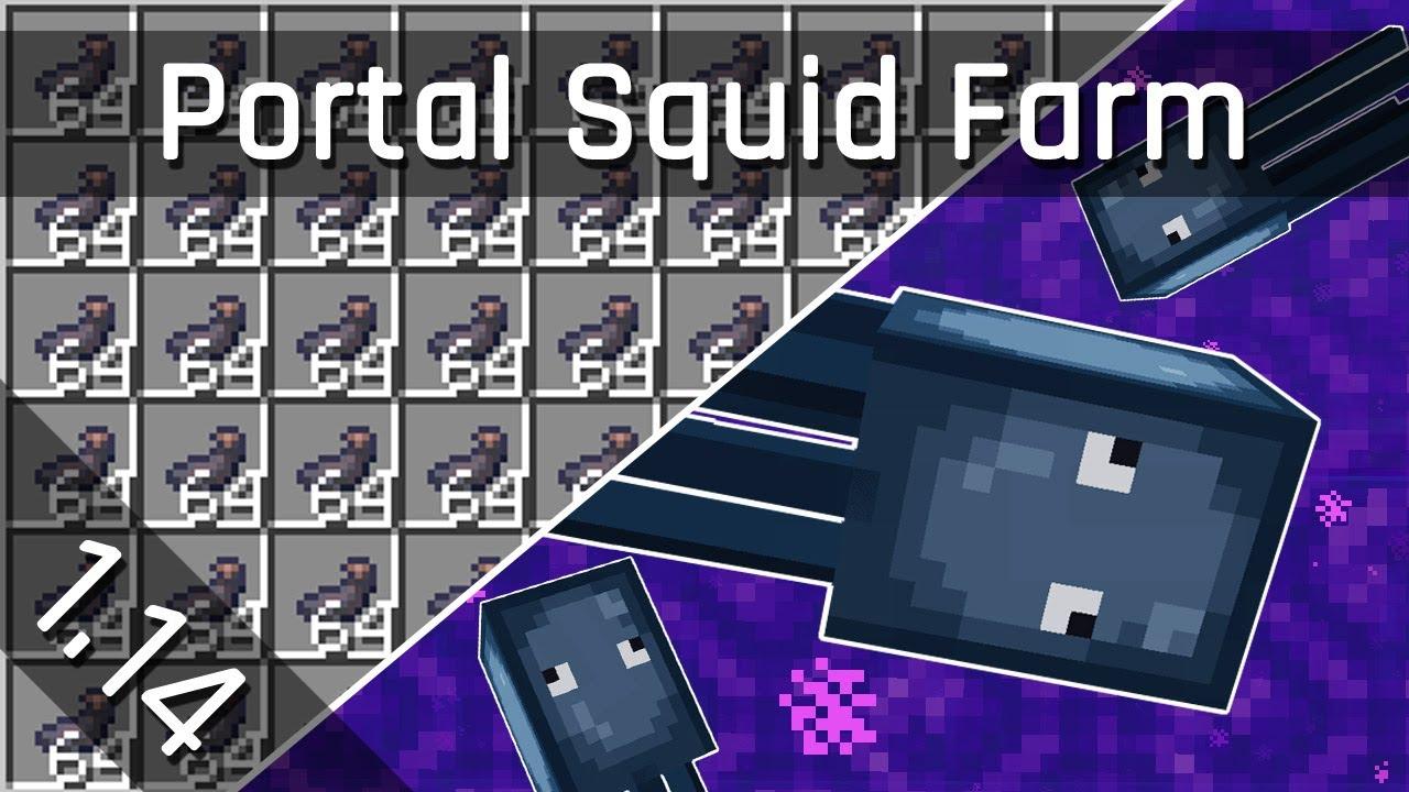 Easy Squid Ink Farm Tutorial Minecraft 1 14 1 15 Java Edition Youtube